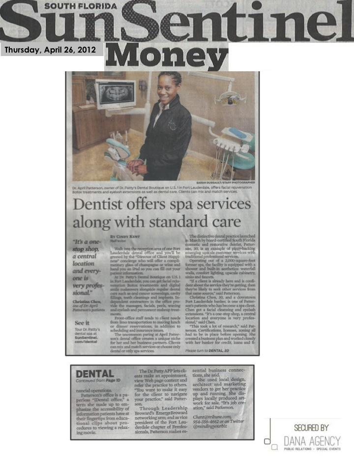 Dr. Patty on Sun Sentinel Money