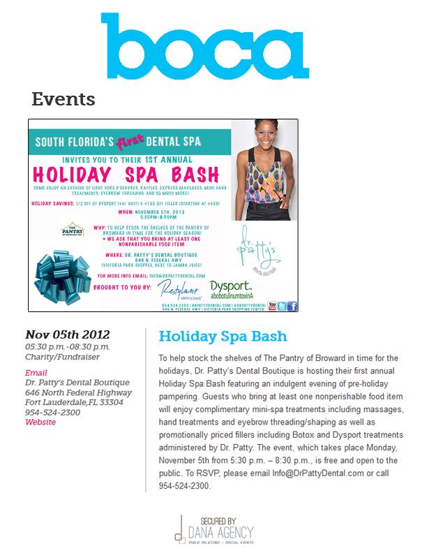 Dr. Patty on BocaMagazine.com, November 5, 2013