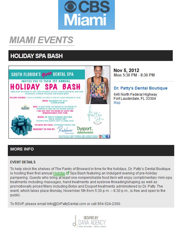 Dr. Patty on CBSMiami.com, November 5, 2012