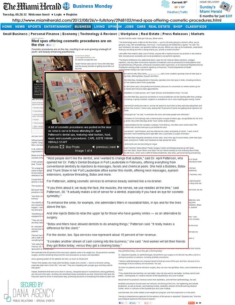Dr. Patty on MiamiHerald.com. August 28,2012